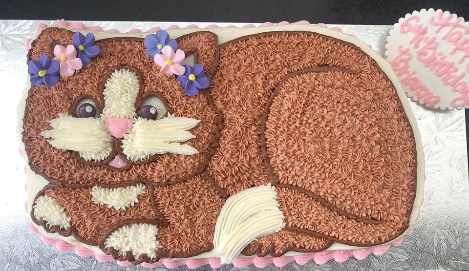 Admirable Cat Birthday Cake Kidds Cakes Bakery Funny Birthday Cards Online Fluifree Goldxyz