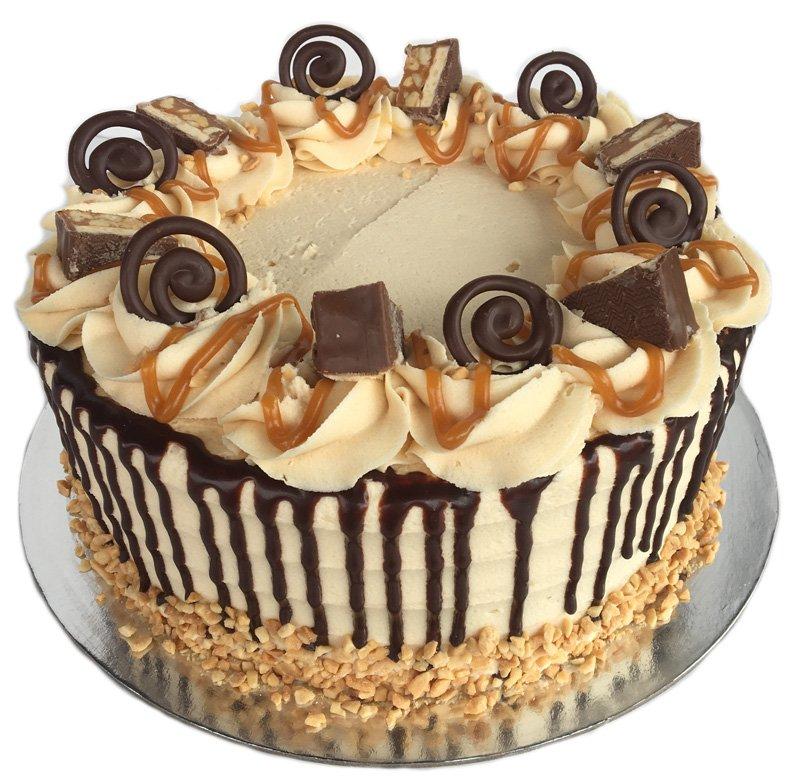 Marvelous Caramel Peanut Snickers Cake Kidds Cakes Bakery Funny Birthday Cards Online Hetedamsfinfo
