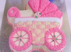 Cakes – Birthday Cakes – Adults – Baby Buggy Pink