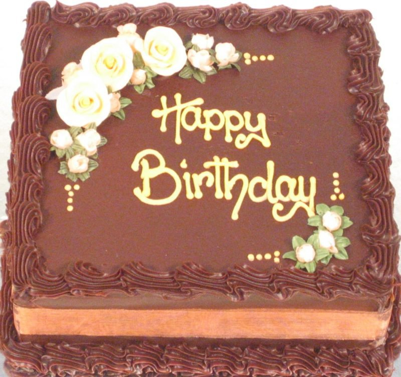 Adults Birthday Cakes Chocolate Cake With Flowers Description
