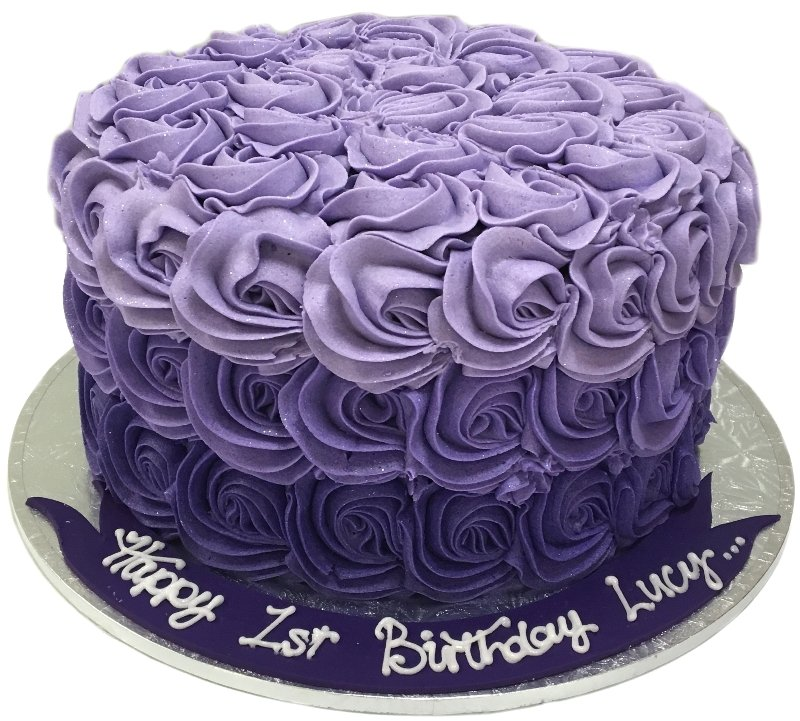 Adults Birthday Cakes Rosette Cake Description