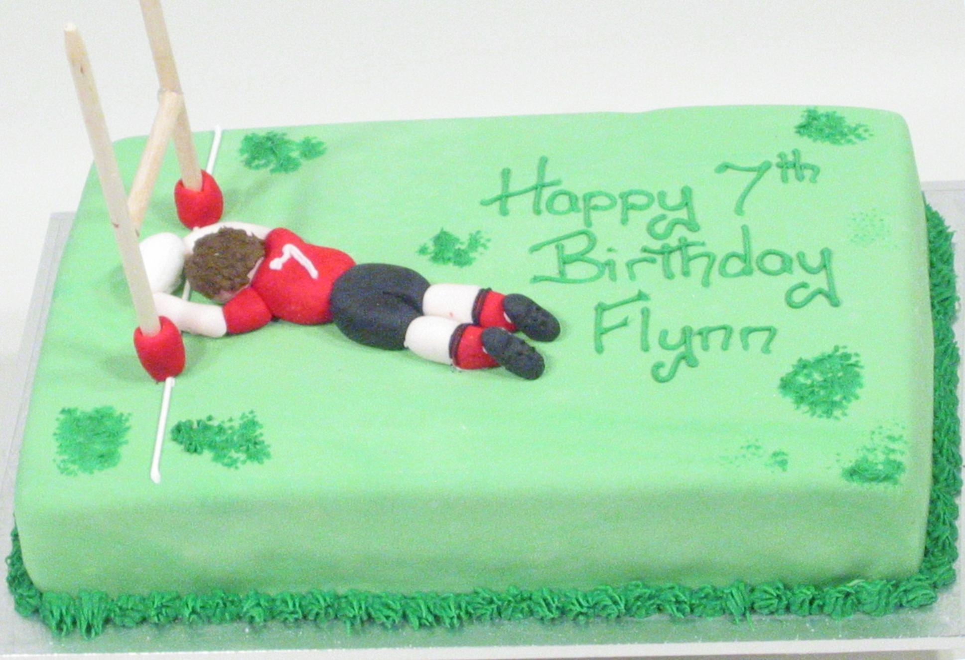 Enjoyable Rugby Field Kidds Cakes Bakery Funny Birthday Cards Online Elaedamsfinfo