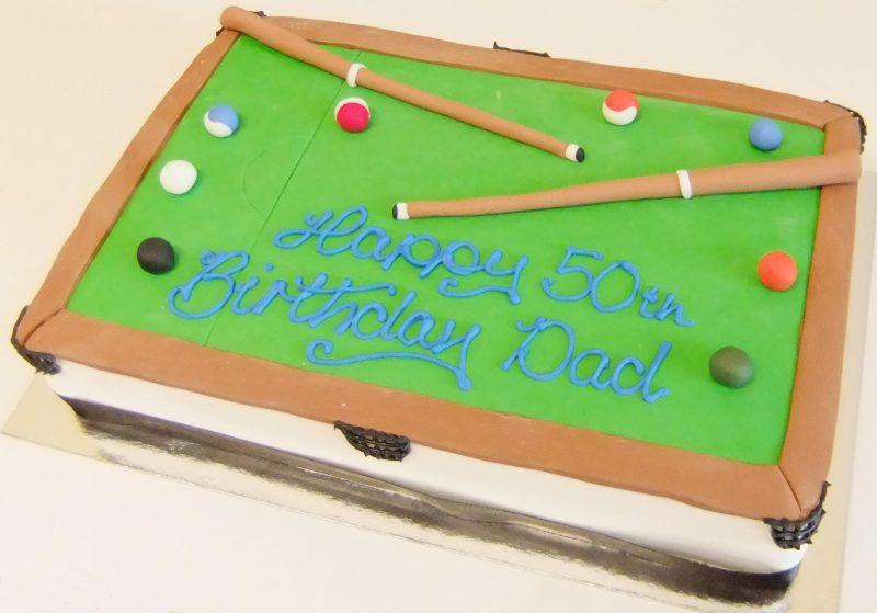 Brilliant Pool Table Kidds Cakes Bakery Personalised Birthday Cards Akebfashionlily Jamesorg