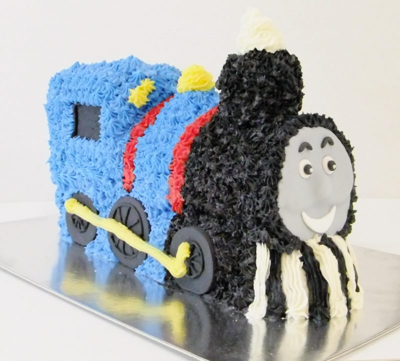 Awesome 3D Train Birthday Cake Kidds Cakes Bakery Funny Birthday Cards Online Fluifree Goldxyz