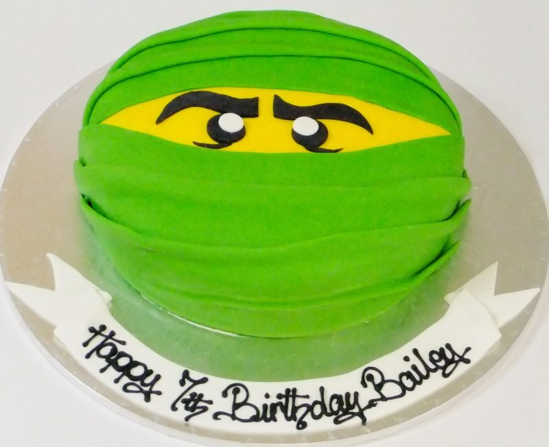 Ninja Face Birthday Cake