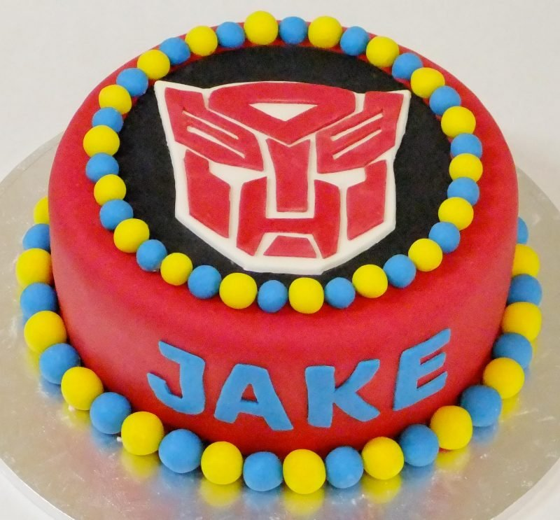 Childrens Birthday Cakes Transformer Cake Description