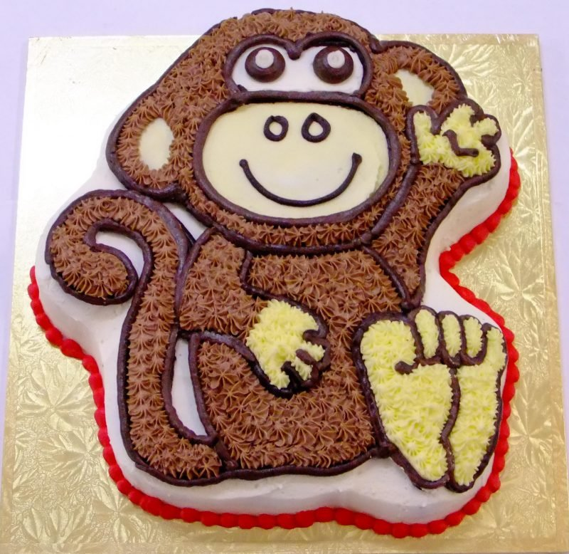 Incredible Monkey Birthday Cake Kidds Cakes Bakery Personalised Birthday Cards Paralily Jamesorg