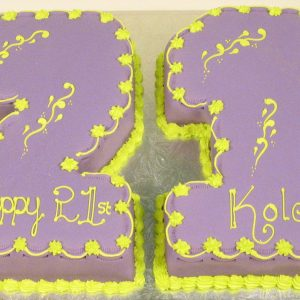 21 In Purple Green
