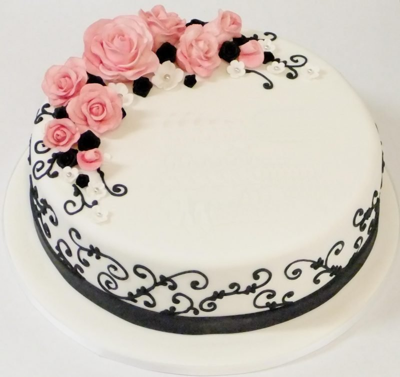 Embroidery Roses Kidds Cakes Bakery