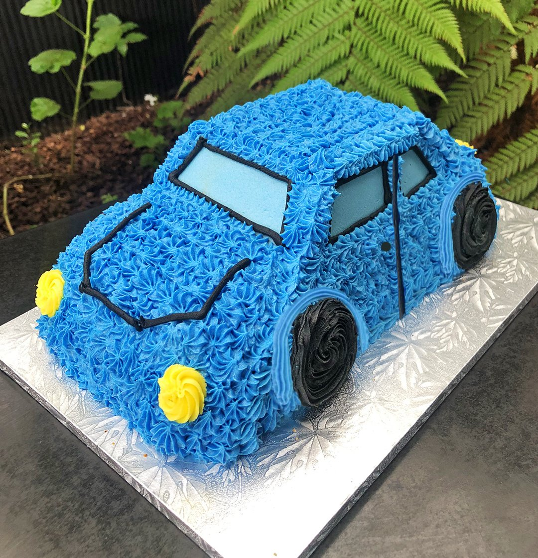 Magnificent 3D Car In Blue Birthday Cake Kidds Cakes Bakery Personalised Birthday Cards Veneteletsinfo