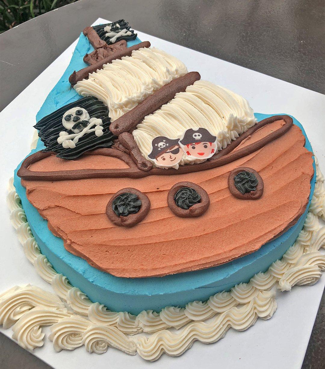 Brilliant Pirate Ship Birthday Cake Kidds Cakes Bakery Funny Birthday Cards Online Inifofree Goldxyz