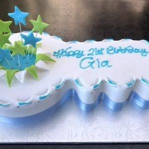 Awesome 21St Birthday Cakes Kidds Cakes Bakery Personalised Birthday Cards Xaembasilily Jamesorg