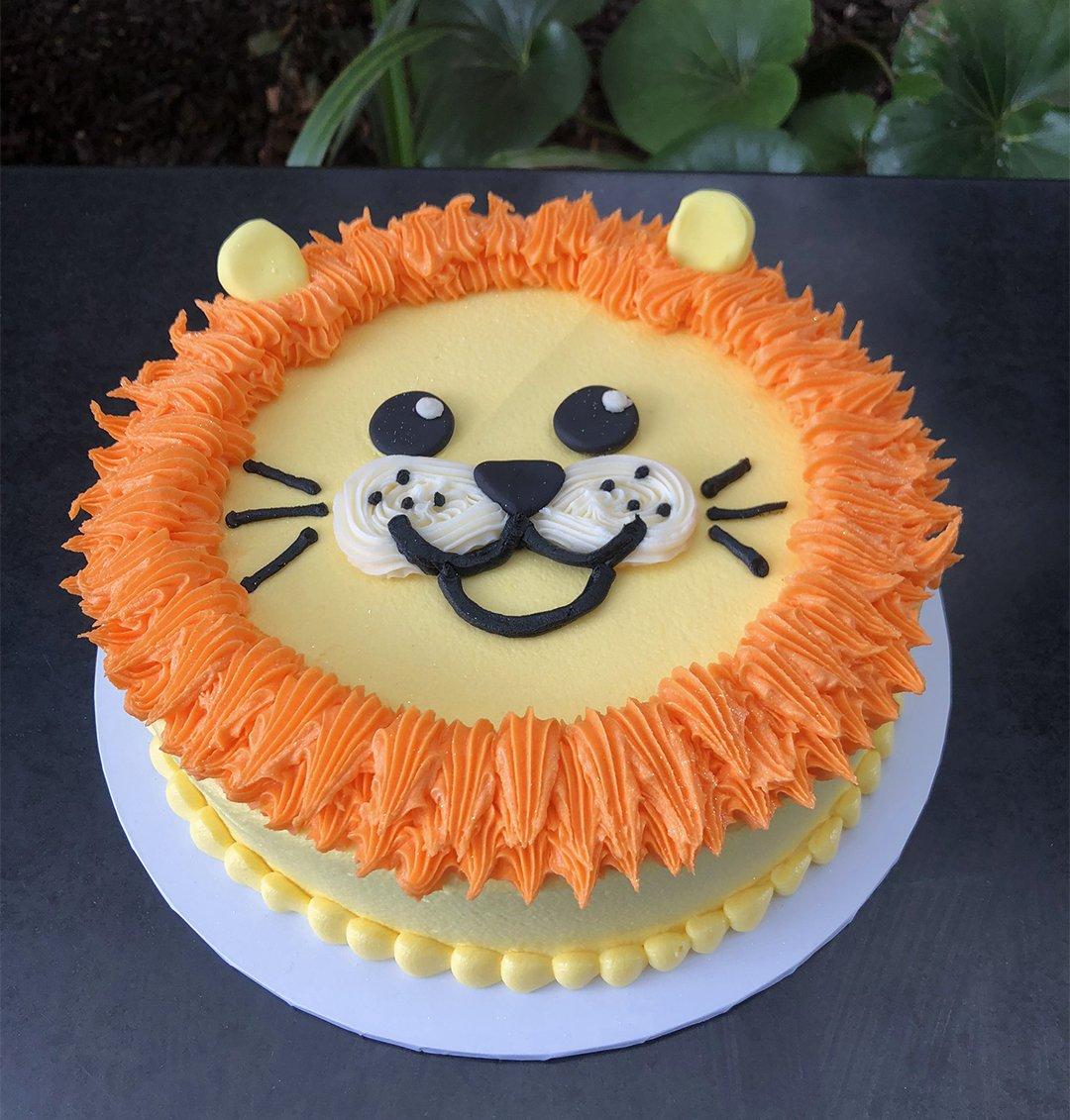 Remarkable Lion Head Birthday Cake Kidds Cakes Bakery Funny Birthday Cards Online Overcheapnameinfo