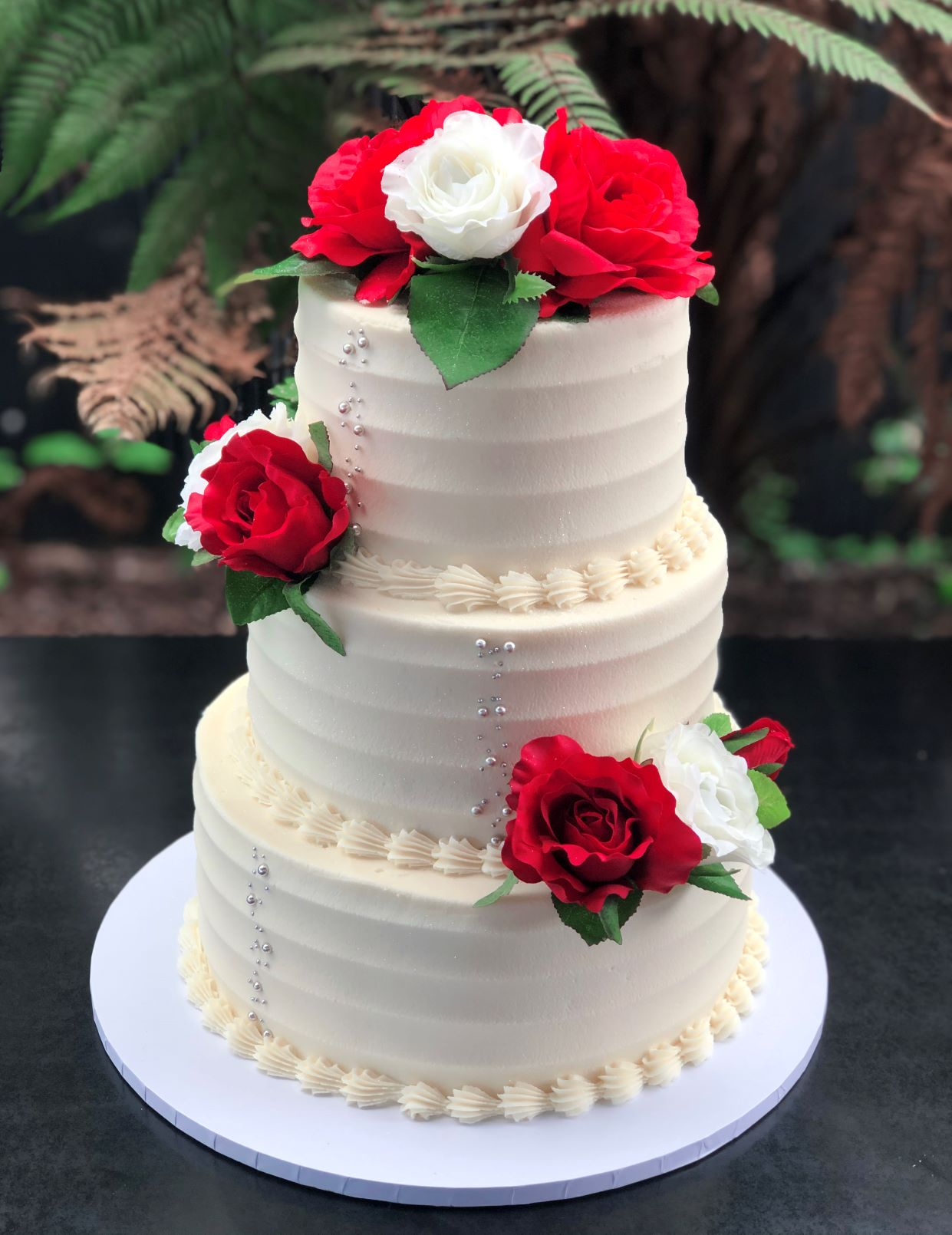 3 Tier Material Rose & Texture